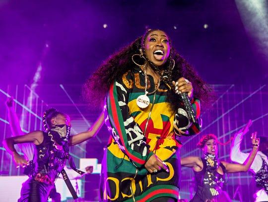 Missy Elliott performs at the 2018 Essence Festival
