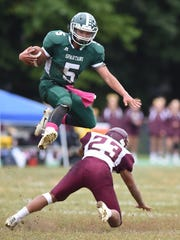 Spackenkill's Camron Abalos jumps over O'Neill's James