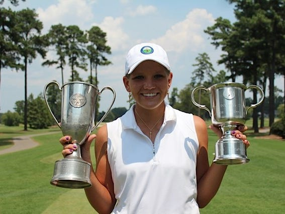 North Buncombe junior Callista Rice won the Dogwood State Championship golf tournament for the second consecutive year Thursday in Cary.