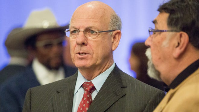 Republican U.S. Rep. Steve Pearce attends the Doña Ana County NAACP annual Martin Luther King Breakfast at Hotel de Encanto on Monday, January 16, 2016.