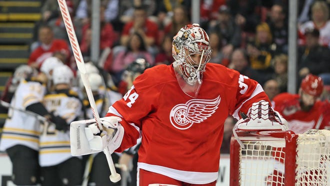 Petr Mrazek entered the weekend leading the NHL in goals against average and save percentage.