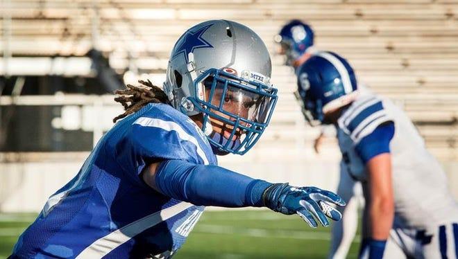 Cornerback J'Marcus Rhodes from Kilgore Junior College in Orange, Texas.