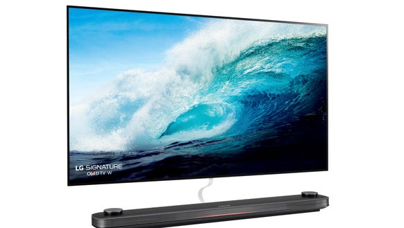 New 20 000 77 Inch Lg Oled Tv Hangs Like A Picture On The