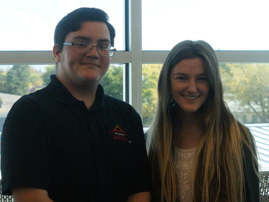 From left, Honors students Antoni Varela and Mattilyn