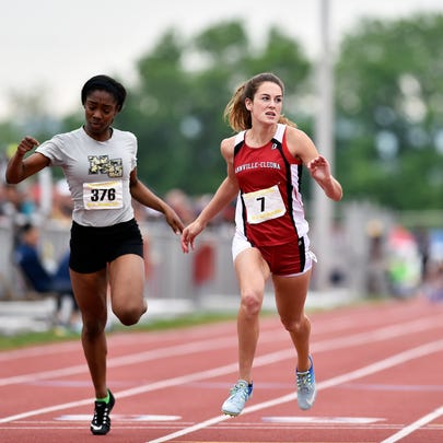 Annville-Cleona's Reagan Hess completes the Class AA