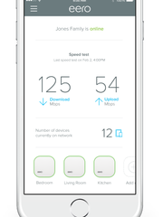 You can monitor and set up eero through the app.