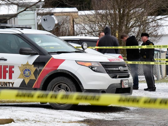 Broome County Sheriff's department investigates a homicide in the Nanticoke Valley Trailer Park at Lot #30 on Friday, December 17.