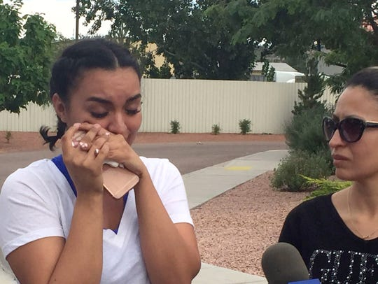 Carla Garnica, left, said her brother Miguel is still