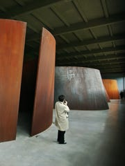 """Torqued Ellipse II,"" 1996, and ""Double Torqued Ellipse,"" 1997, by Richard Serra, is on permanent display at Dia:Beacon."