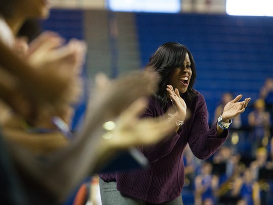 The University of Delaware head coach Natasha Adair