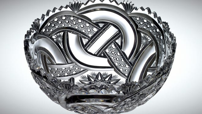 This crystal bowl created in Corning will be among the items on display in a new gallery at the Corning Museum of Glass.