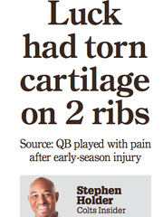 Headline on IndyStar sports cover on Jan. 1, 2016.