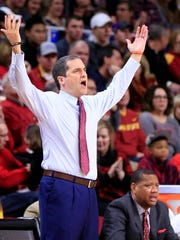 Iowa State Cyclones head coach Steve Prohm during a