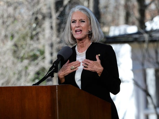 Anne Graham Lotz, daughter of Billy Graham, offers