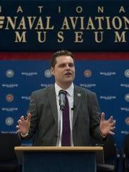 U.S. Rep. Matt Gaetz, R-Fort Walton Beach, speaks to