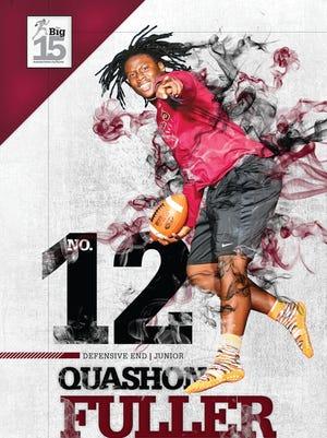 Defensive End Quashon Fuller, No. 12 on The Big 15 list.