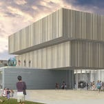 A rendering of the new entrance to the renovated Speed Art Museum that reopens March 12.