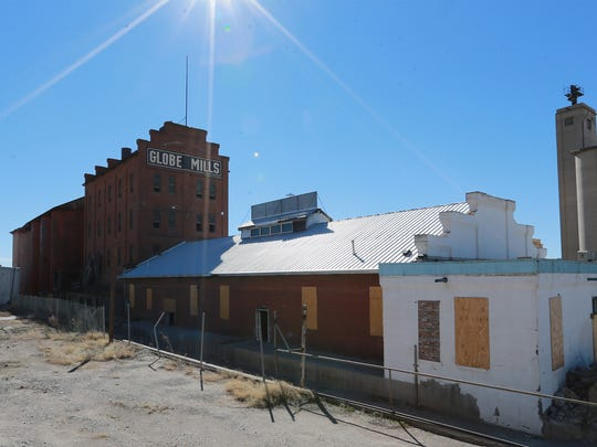 The old Globe Mills structures will soon be demolished.