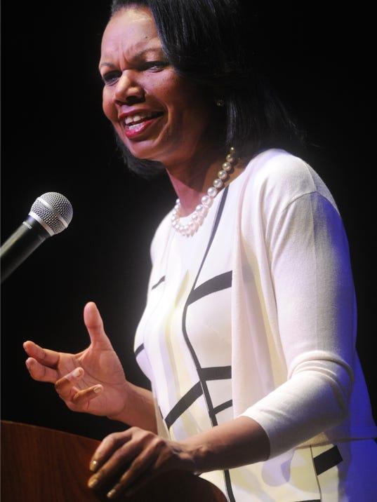 Condi Rice speaks at CLU 1