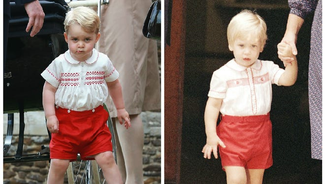 Peep the realness! Left: Prince George, July 5, 2015. Right: Prince William, Sept. 16, 1984.