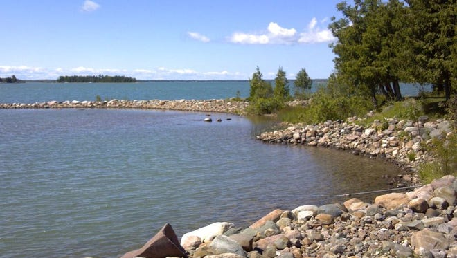 Howard Island, on Lake Huron east of Michigan's Upper Peninsula, is listed at $495,000 through Drummond Island Realty.