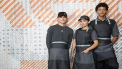 The new McDonald's uniform draws criticism on social