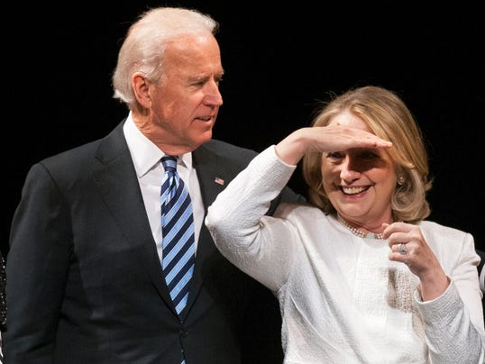 Biden and Clinton