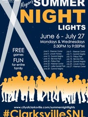 The 2016 Mayor's Summer Night Lights schedule. A program
