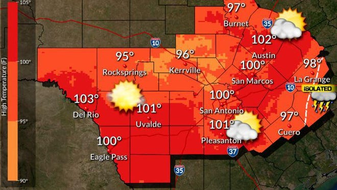 National Weather Service forecast for August 10, 2020.