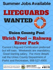 Summer lifeguard positions are available at Union County's