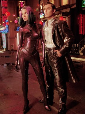 Ashley Scott and Jude Law in a scene from the 2001 film 'A.I. Artificial Intelligence.'