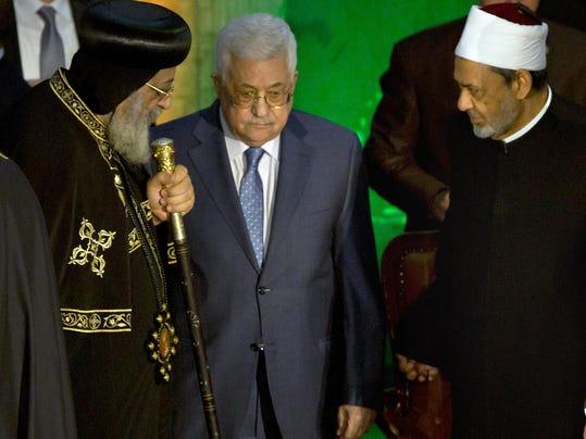 Mahmoud Abbas,Ahmed el-Tayeb,Tawadros II