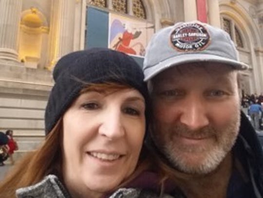 Terry Wagner and her husband.