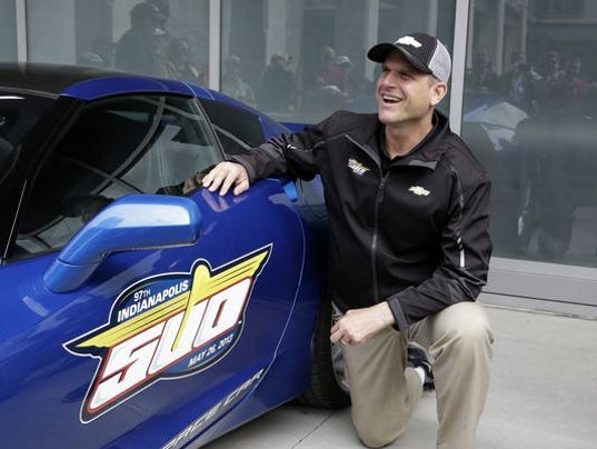 Jim Harbaugh Got His Hands Dirty As Part Owner Of Indycar Team