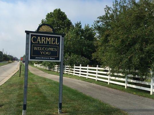 City of Carmel sign