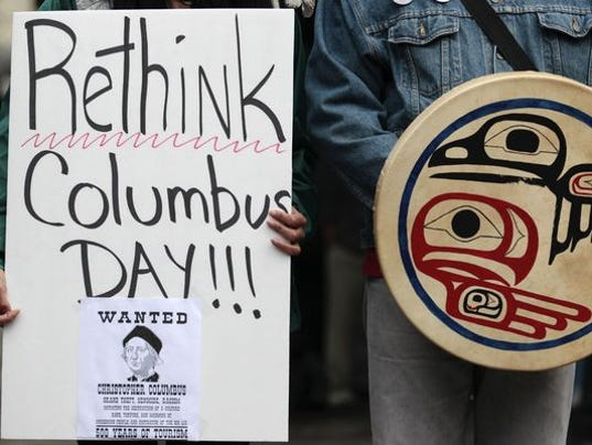 Columbus Day protest Seattle