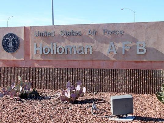 Holloman Air Force Base sign