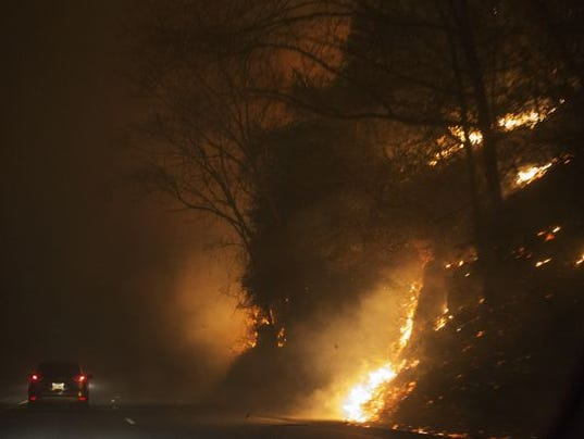 Great Smokey Mountain fire