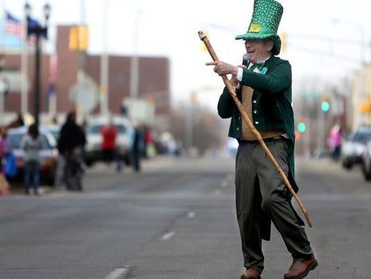 St Patricks Day parade Muncie