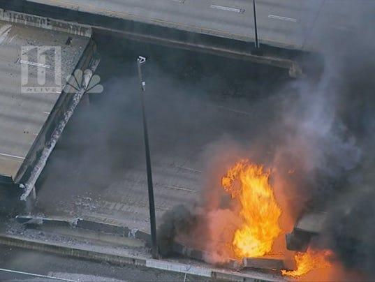 Interstate 85 bridge collapses