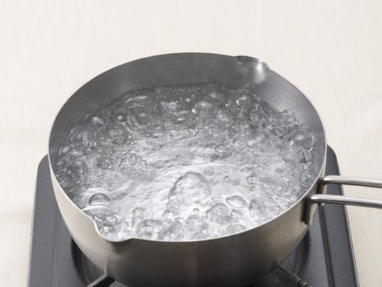 how to know when water is boiled