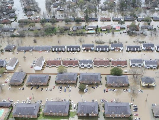 Record Flooding Swamps Texas Louisiana Miss