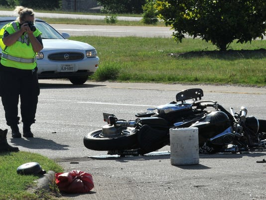 An accident involving a motorcycle sends one to the hospital