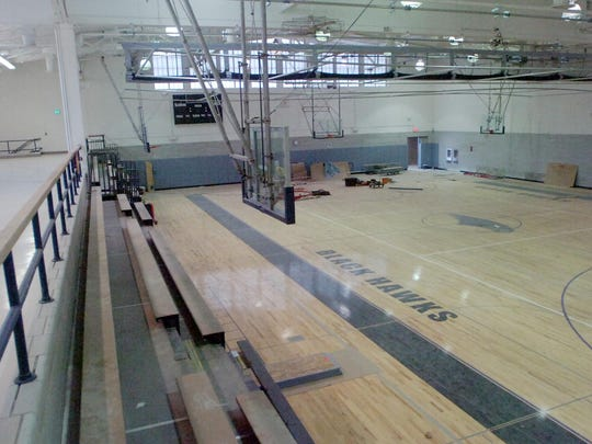 The old Andover gym will now be the auxiliary gym.