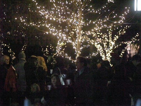Several hundred showed up Wednesday for the annual Birmingham tree lighting ceremony at Shain Park.