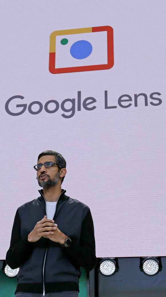 Google CEO Sundar Pichai talks about Google Lens, which