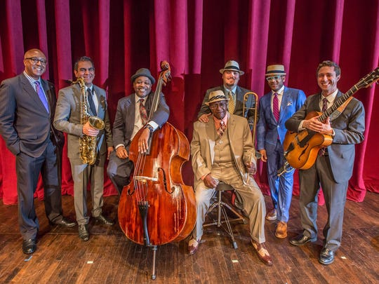 MSU Professors of Jazz: Xavier Davis, piano; Diego Rivera, tenor saxophone; Rodney Whitaker, bass; Randy Gelispie, drums; Michael Dease, trombone; Etienne Charles, trumpet; Randy Napoleon, jazz guitar.