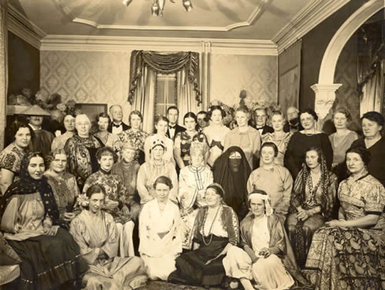A Plainfield Musical Club meeting in the 1930s in a