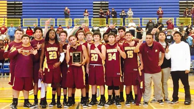 Cherokee's boys basketball team.