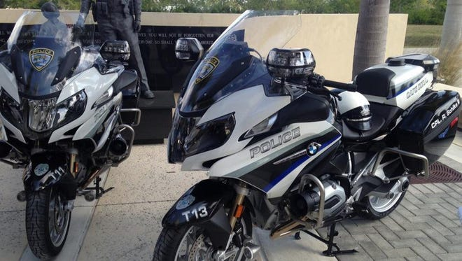 The New BMW R1200 RTP motorcycles Cape Coral police will be using.